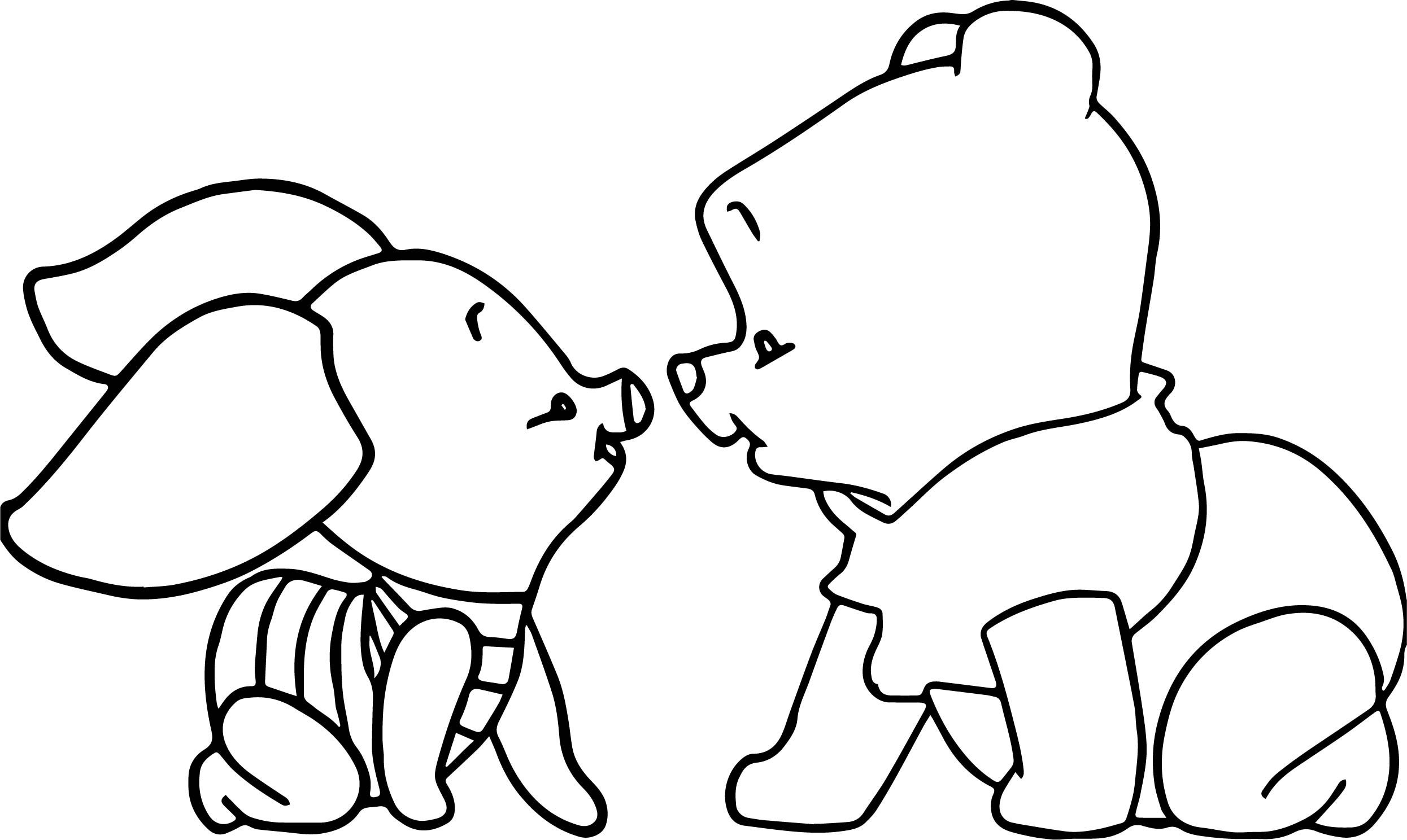 Awesome Baby Piglet Winnie The Pooh Crawling Coloring Page Winnie The Pooh Drawing Whinnie The Pooh Drawings Cute Winnie The Pooh