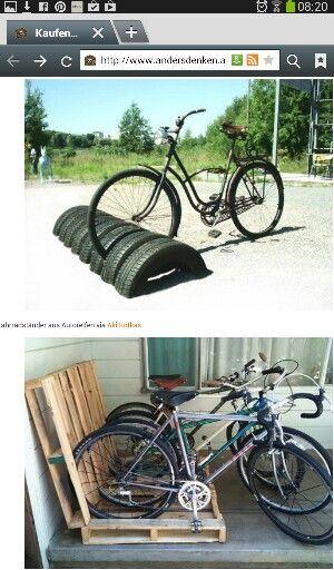 Lustige Idee Fur Fahrradstander Gartenwerkzeug Fahrrad Garten