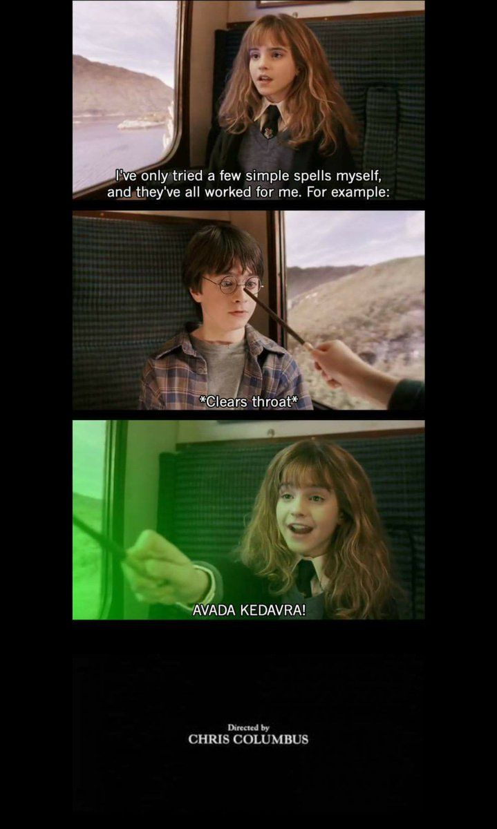 The Books And Movies Would Have Been A Lot Shorter If Hermione Was Raised Dark Lol Harry Potter Puns Harry Potter Jokes Harry Potter Funny