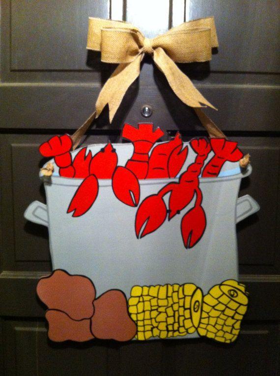 Crawfish Wreath, Crawfish Door Hanger, New Orleans Wreath ...