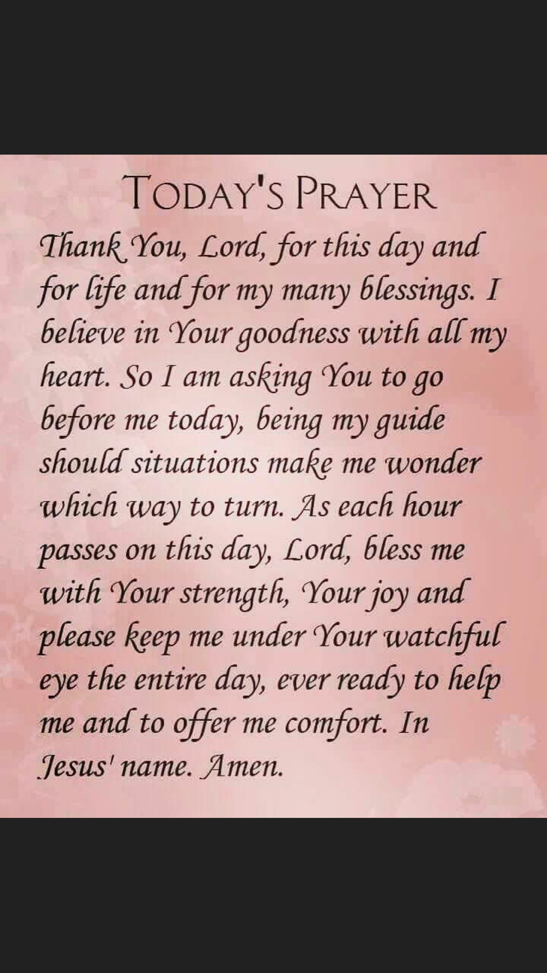 everyday  Faith prayer, Prayer for today, Everyday prayers
