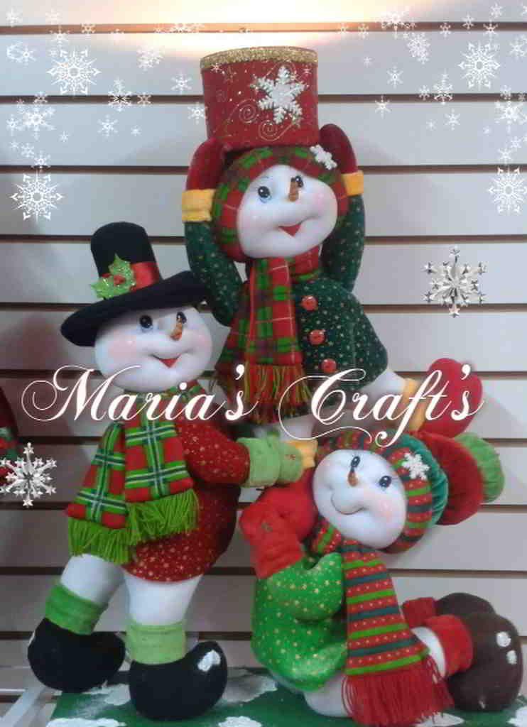 Torre de mu ecos de nieve con regalo moldes gratis - Munecos de navidad ...
