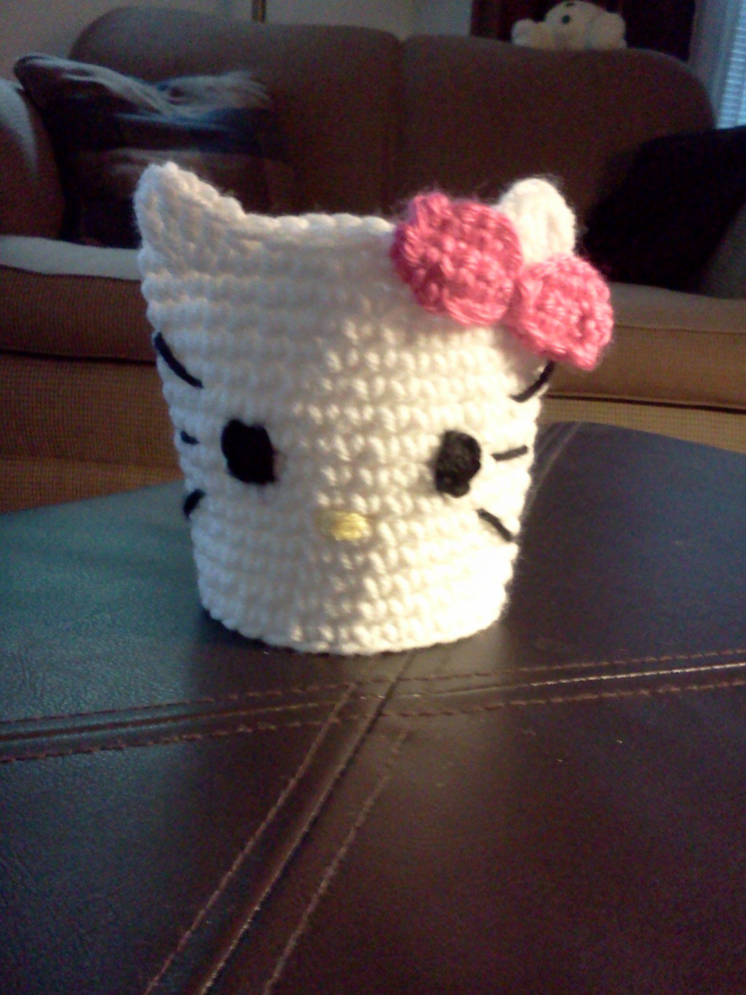 Hello Kitty cup cozy | POCILLOS Y MUGS DE GATITOS CON ESTILO ...