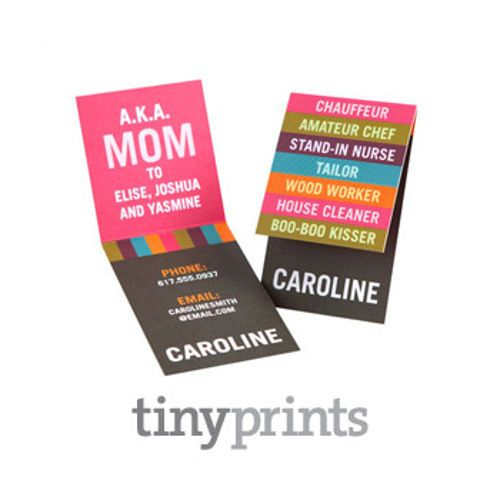 Mommy Cards and Contact Cards