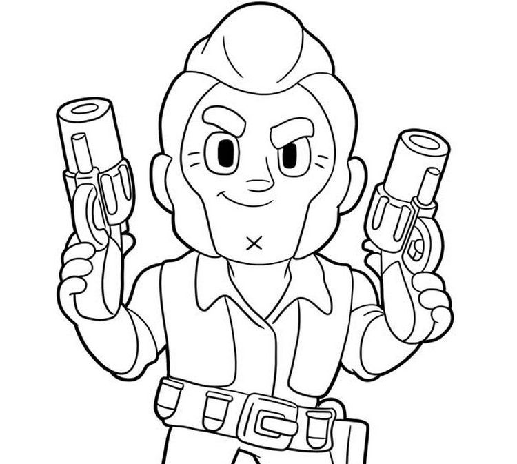 coloring pages emz print out your brawl stars character