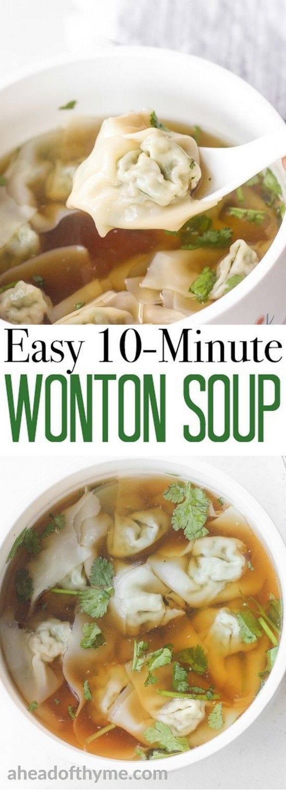 Easy-10-Minute Wonton Soup | Tasty Food #chinesefood