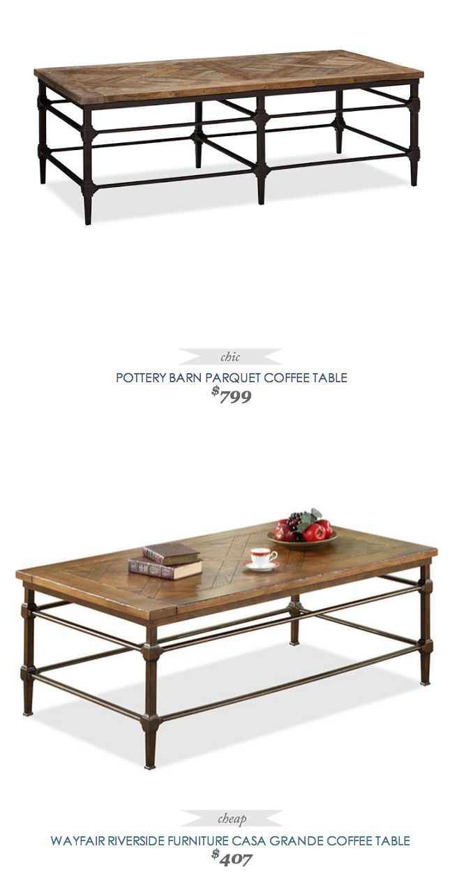 Pottery Barn Parquet Coffee Table Look Alike Collection