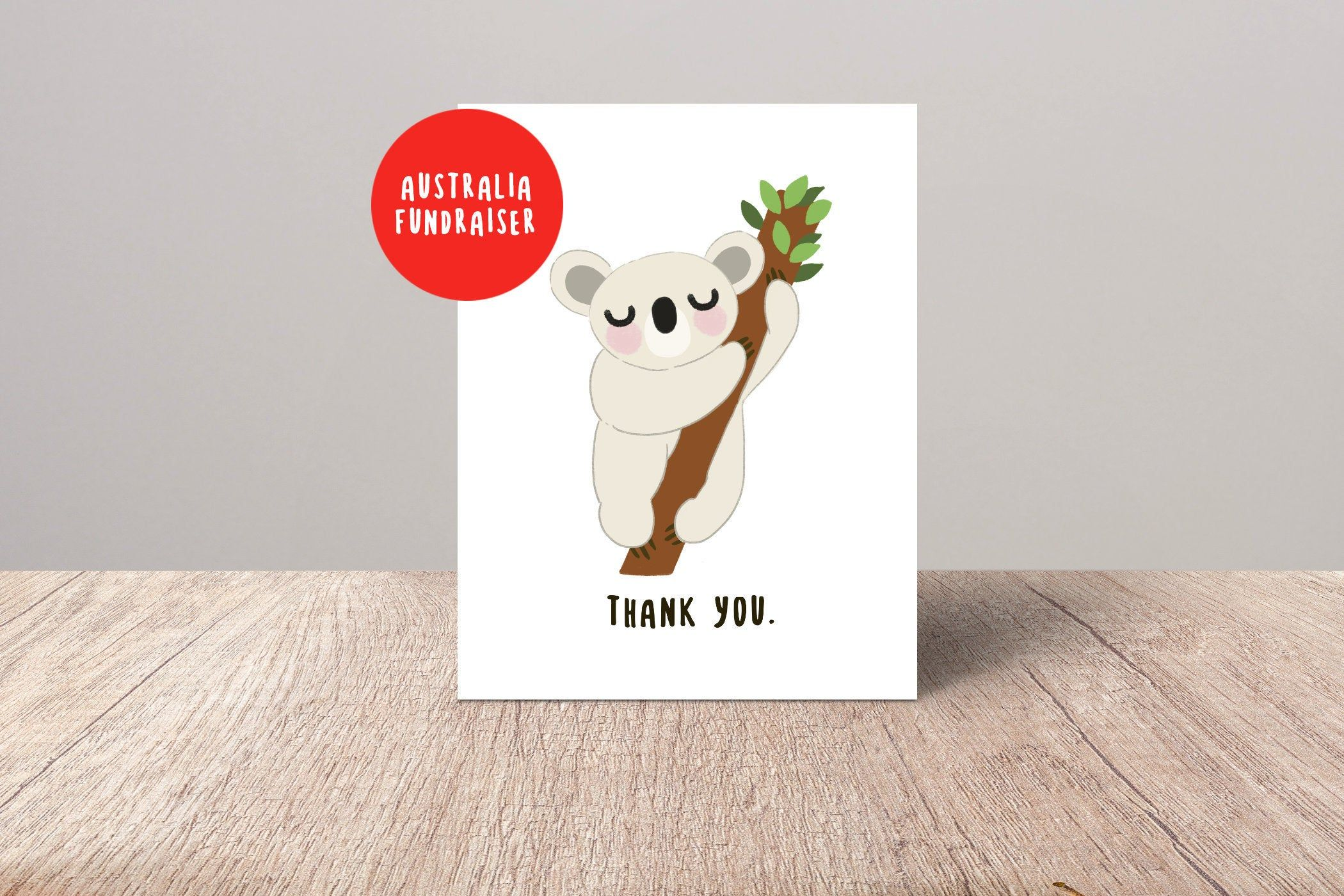 Thank You Card Pack Koala Thanks Cards For Friend Australia Etsy Thanks Card Cards For Friends Funny Greeting Cards