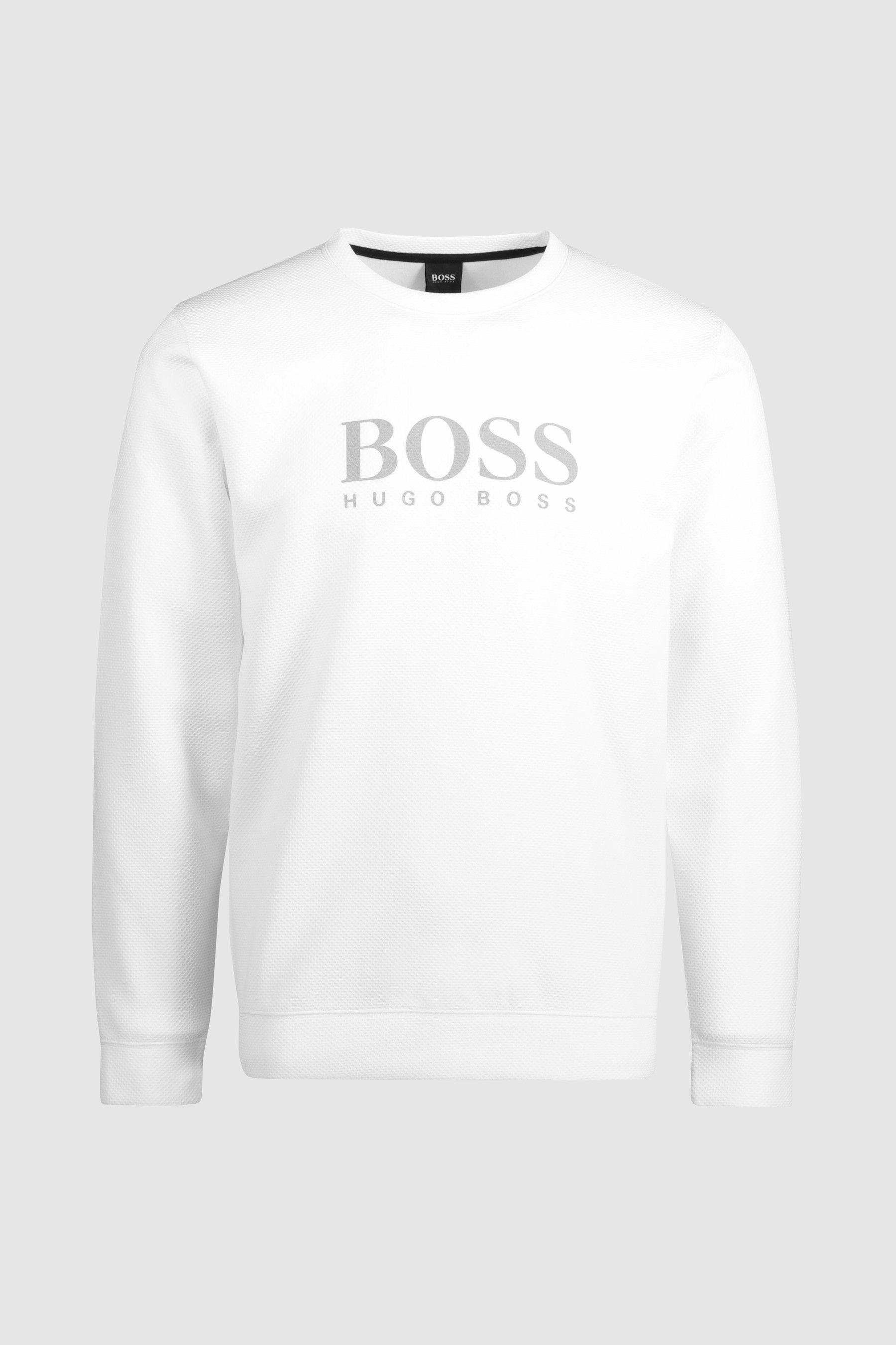 f89ed96dc06f Mens BOSS White Crew Neck Sweater - White | Products | Sweaters ...
