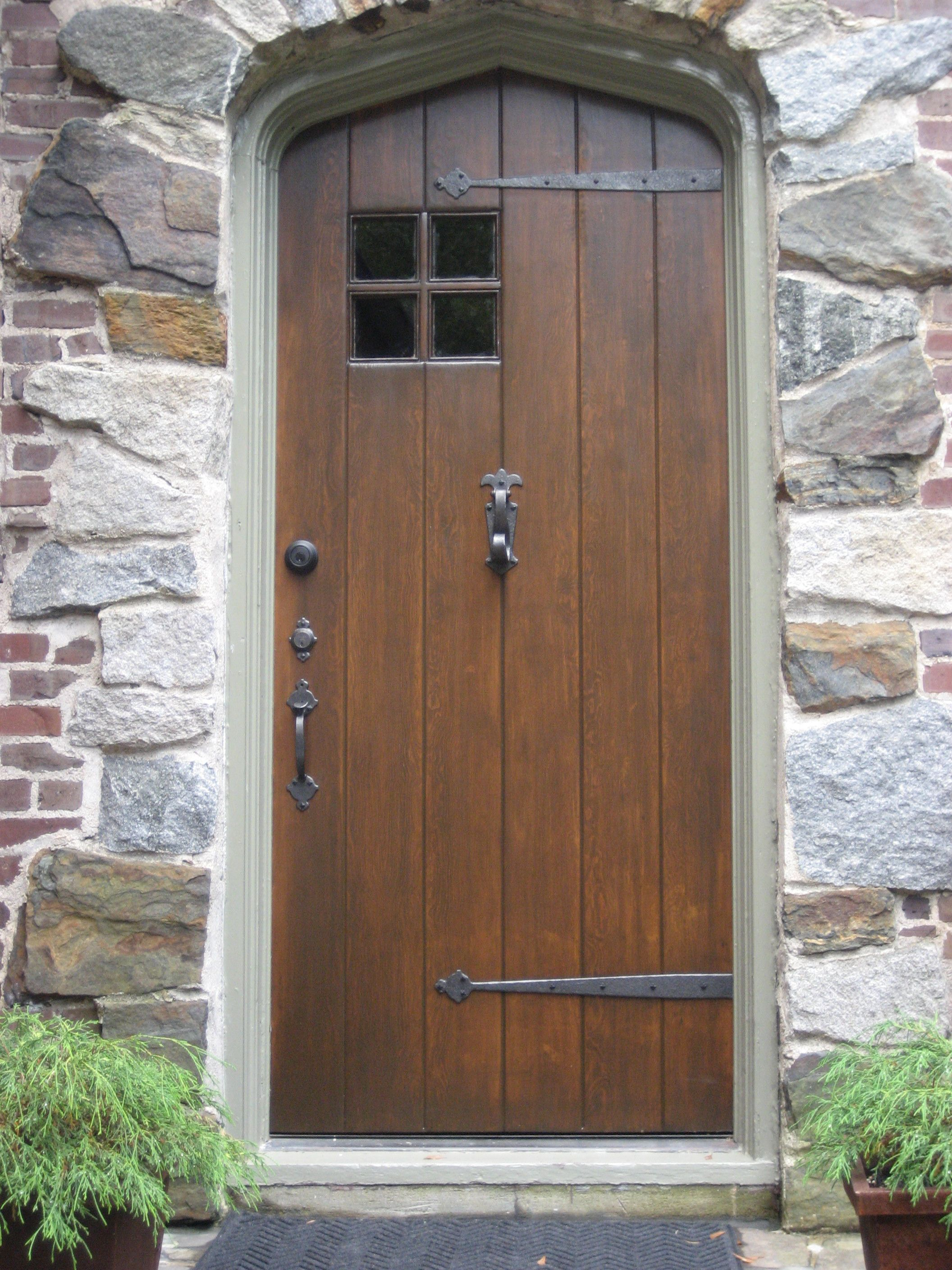 1928 Storybook Tudor Solid Wood Doors Exterior Wooden Door