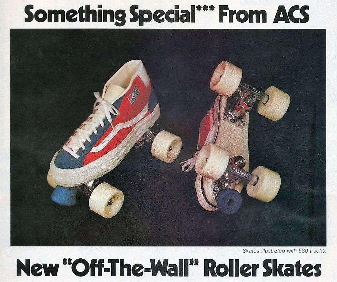 e0be39262c 1978 VANS Skate Shoe Roller Skates by ACS Ad - proves skating was cooler in  the 70s! California