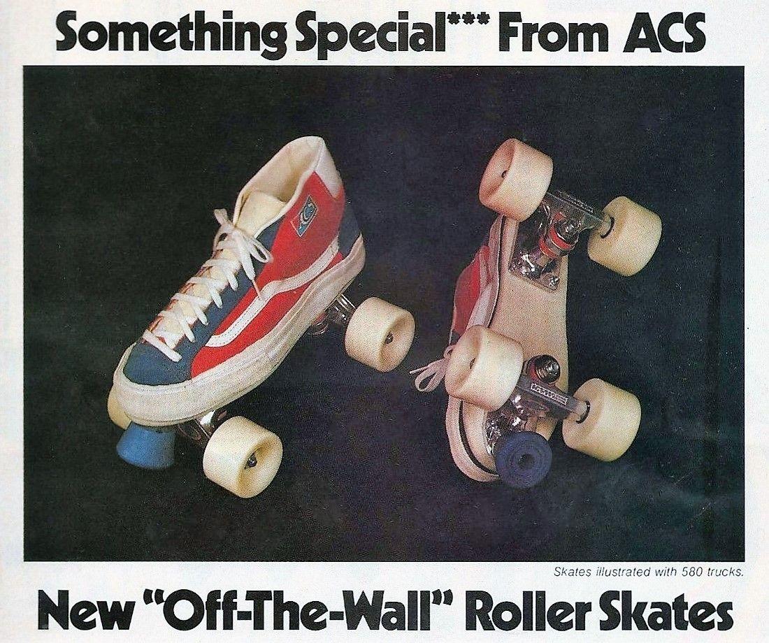Roller shoes vans - 1978 Vans Skate Shoe Roller Skates By Acs Ad Proves Skating Was Cooler In The