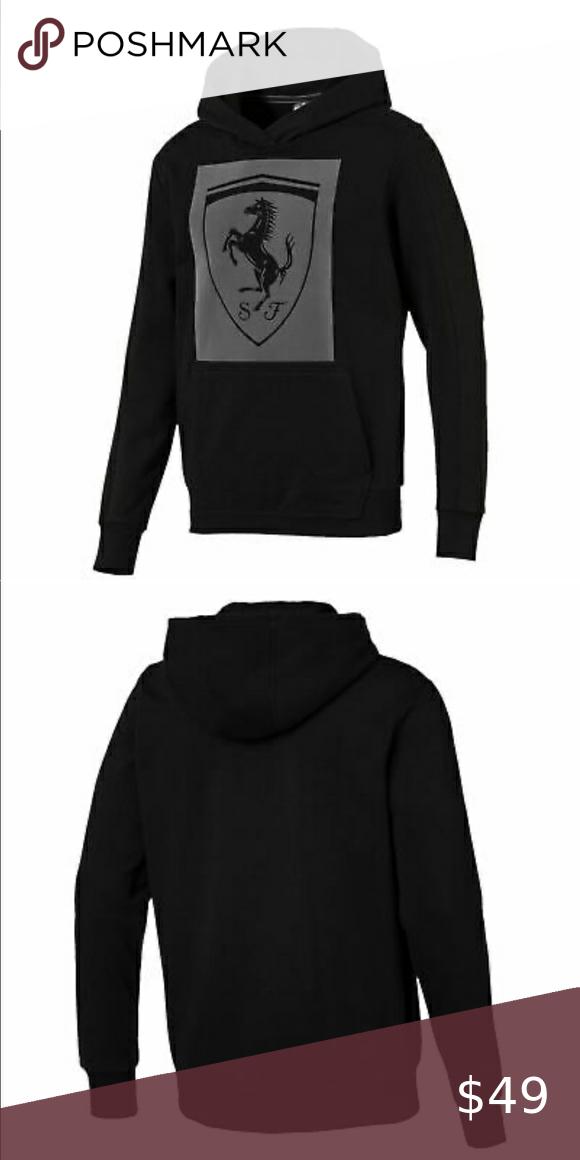 Puma Men S Ferrari Big Shield Hoodie Hoodies Puma Mens Sweatshirt Shirt