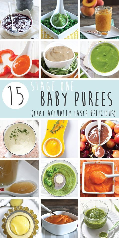 15 Stage One Baby Food Purees (4-6 Months | Baby food ...
