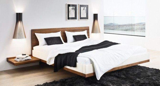 Designpreis-gekröntes TEAM 7 riletto Bett mit schwebendem Design ...