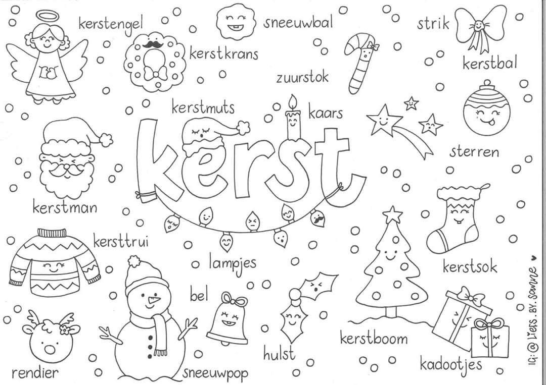Kerst Woorden Kleurplaat In 2020 Kerst Woorden Kerst Kerst Kunst