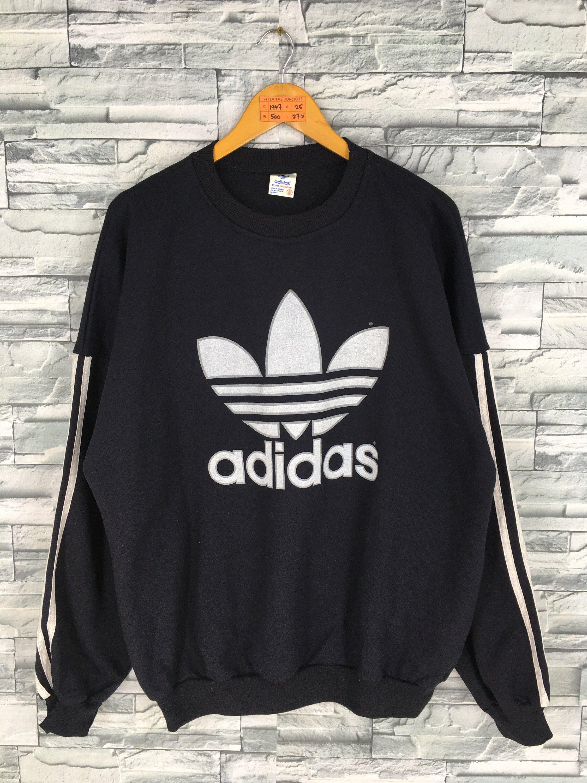 Vintage 80s ADIDAS Sweatshirt XLarge Adidas Trefoil
