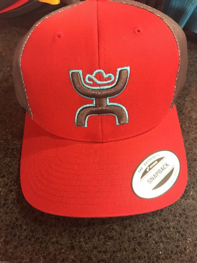 finest selection ef081 3af5b Hooey Cap Red Brown Diamond Trk Trucker OSFA 1812T-RDBR SnapBack   eBay