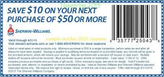 Free Printable Coupons Sherwin Williams Coupons Sherwin