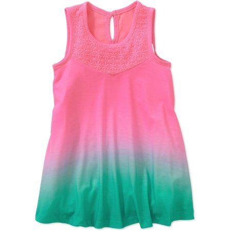 Cherokee Toddler Girl Dip Dye Dress, Pink