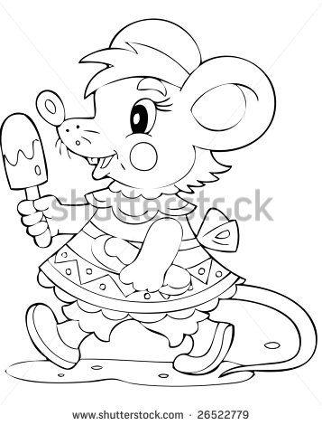 illustration of the joyful mouse