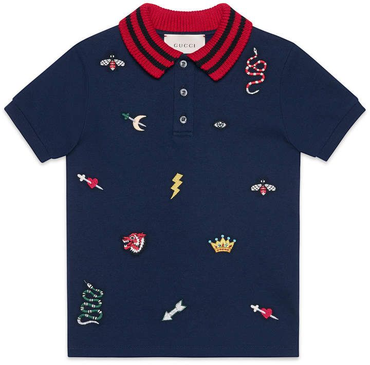 1f96a8e76d9 Luxury Children s  polo  shirt with symbols embroidery