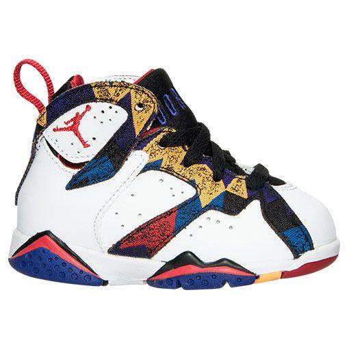 the latest ae195 03137 italy infant air jordan retro 7 crib shoes 559d6 65700