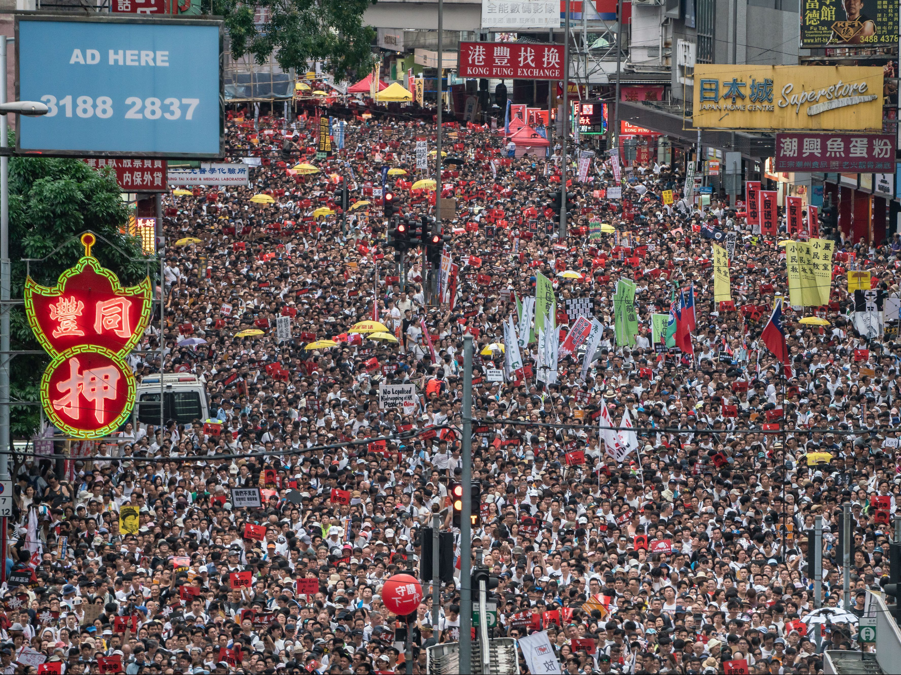 Hong Kong Plunged Into Political Crisis After Huge Protest Against
