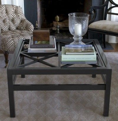 Glass Top Square Coffee Table Es