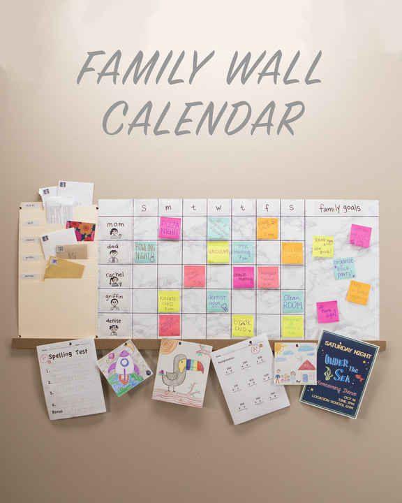 Weekly Family Wall Calendar Family wall, Walls and Organizations