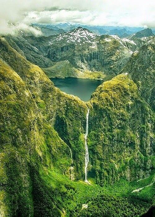 Lake quil New Zealand.