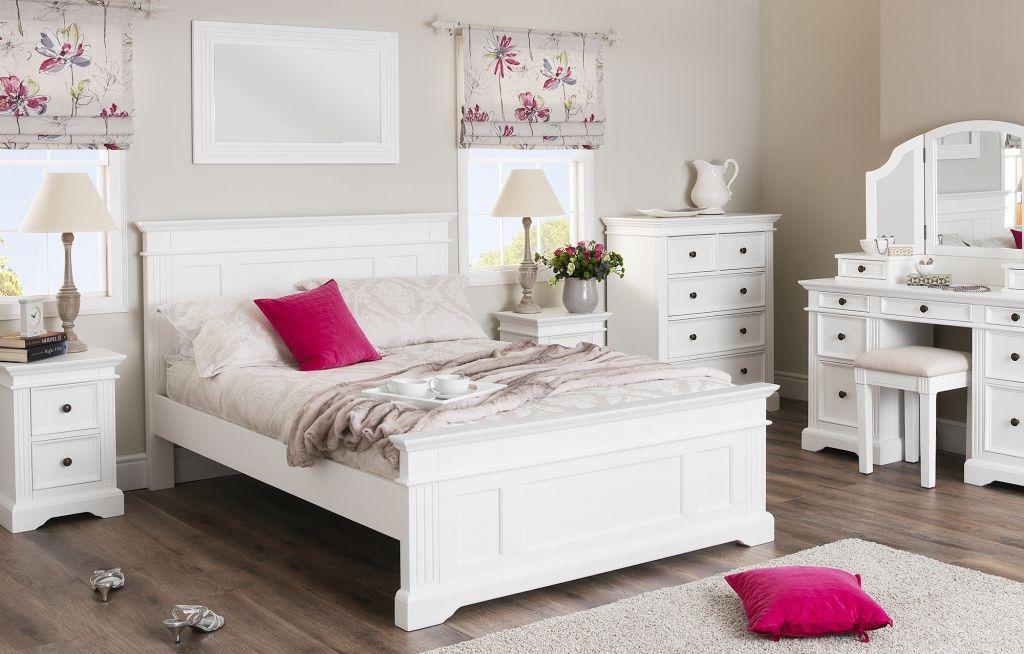 shabby chic bedroom furniture set - simple interior design for