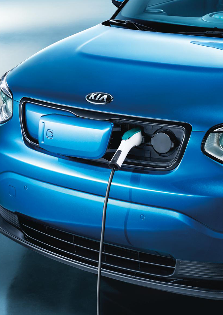 Conveniently Located Charging Ports Kiasoulev