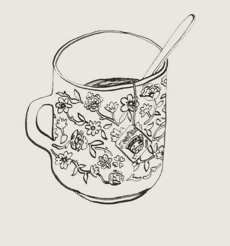 Cup Of Tea Drawing