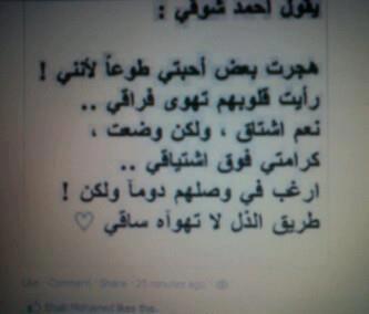 نعم أشتاق و لكن طريق الذل لا تهواه ساقي Arabic Quotes Words Arabic Words