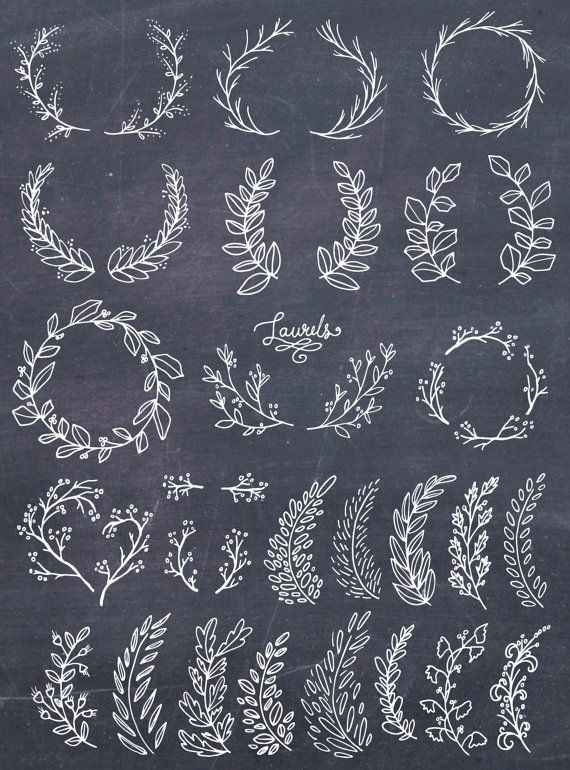 Photo of Laurel Wreath Clipart, Wreath Clip Art, Laurel Wreath PNG, Botanical Clipart, Hand Drawn Clip Art, Floral Wreath Vector, PNG, Commercial Use
