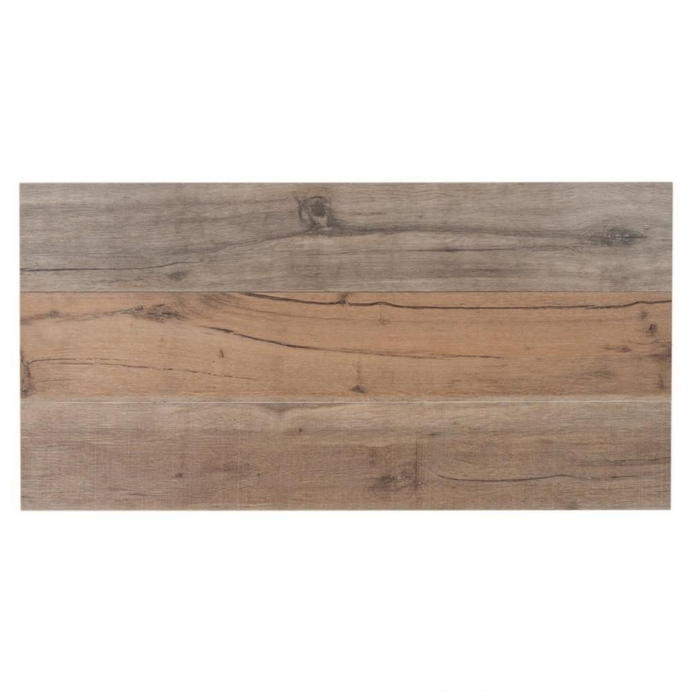 Floor And Decor Wood Look Tile Birch Forest Noce Wood Plank Porcelain Tile  6Inx 36In