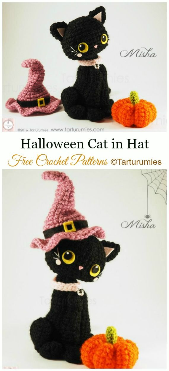 Crochet Amigurumi Cat Free Patterns #amigurumifreepattern