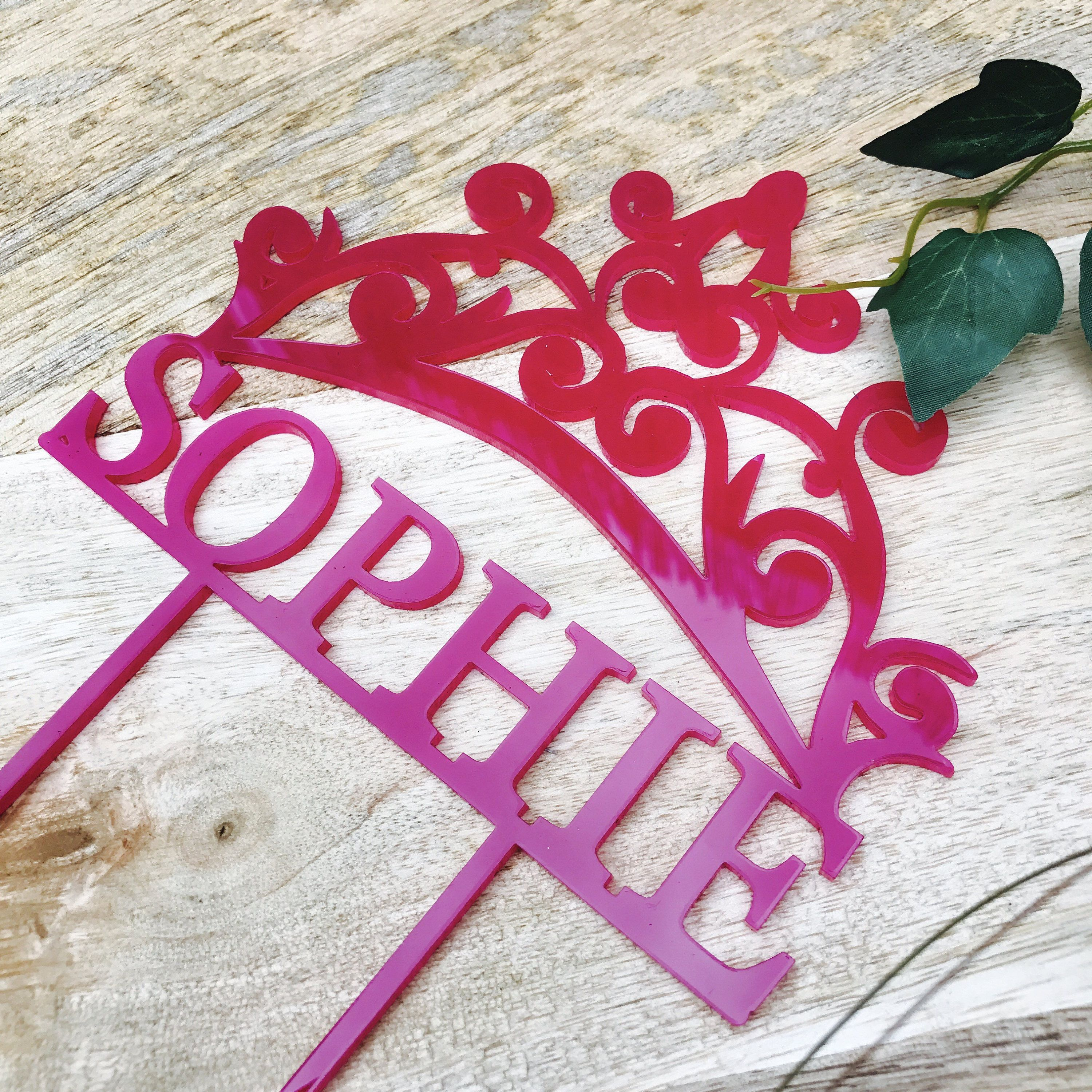 Crown Cake Topper Crown Personalised Birthday Cake Topper Cake