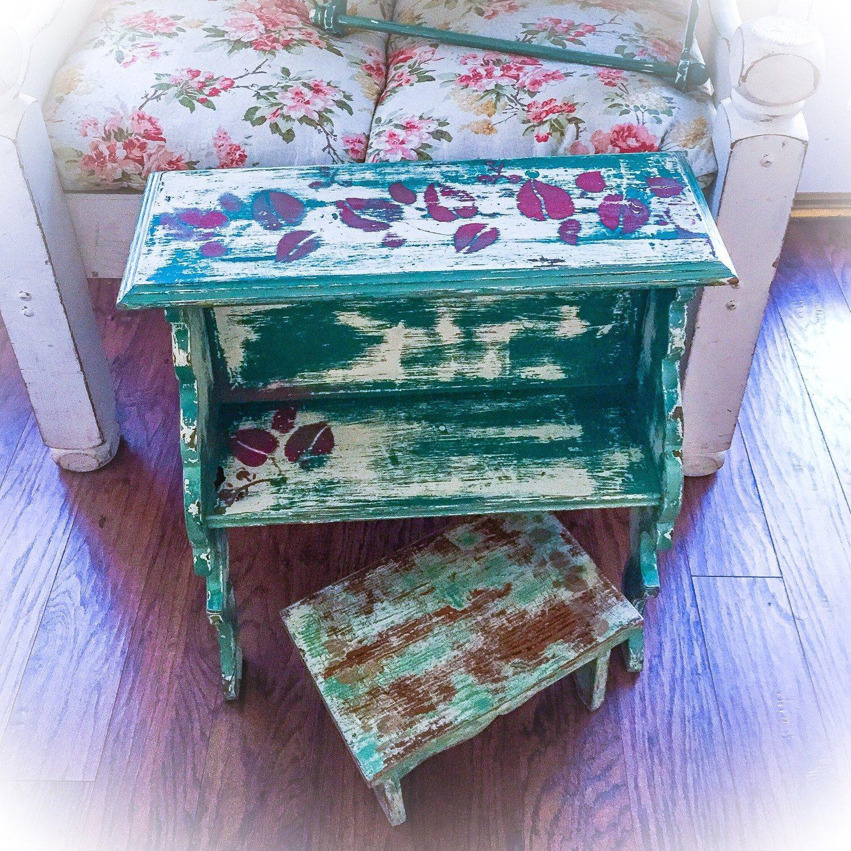 Shabby Chic Children\'s, Vintage Reading Desk, Bookshelf & Antique ...