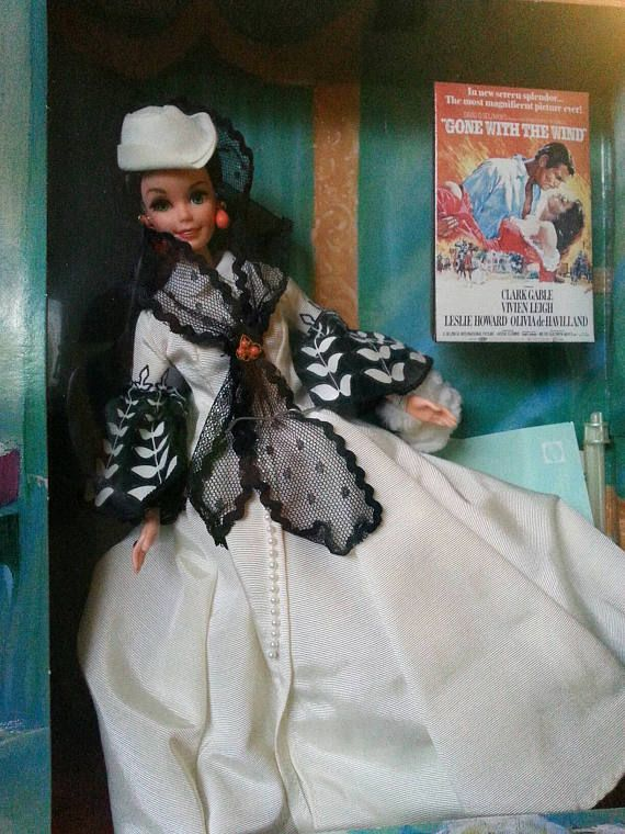 Hollywood Legends Collection Gone with the Wind Collectible Doll, Barbie as Scarlett O'Harassment 12 Doll. Rare Barbie Classic Film Doll. #hollywoodlegends