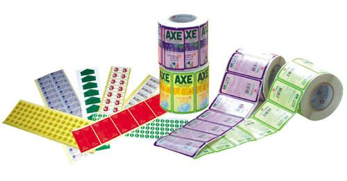 Custom Full Color Printed Adhesive Sticker Label Roll No Colors Limited