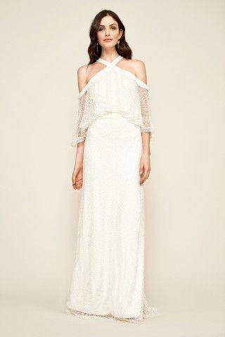 Tadashi Shoji Laboe Halter Neck Gown | The Dress | Pinterest ...