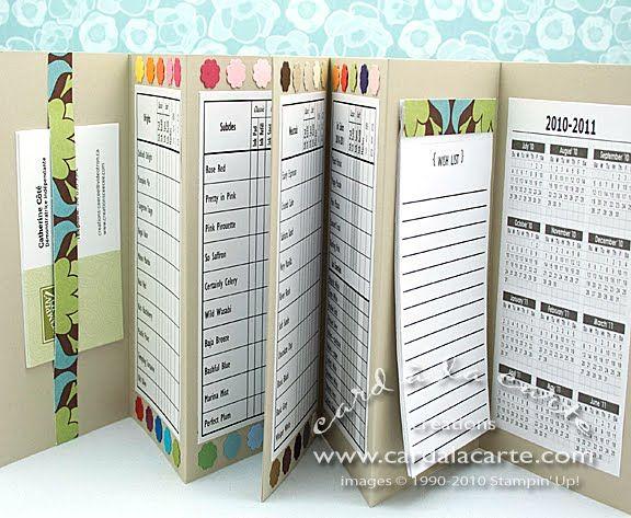 Card à la Carte Updated Tutorial -- SU Color Inventory Wallet