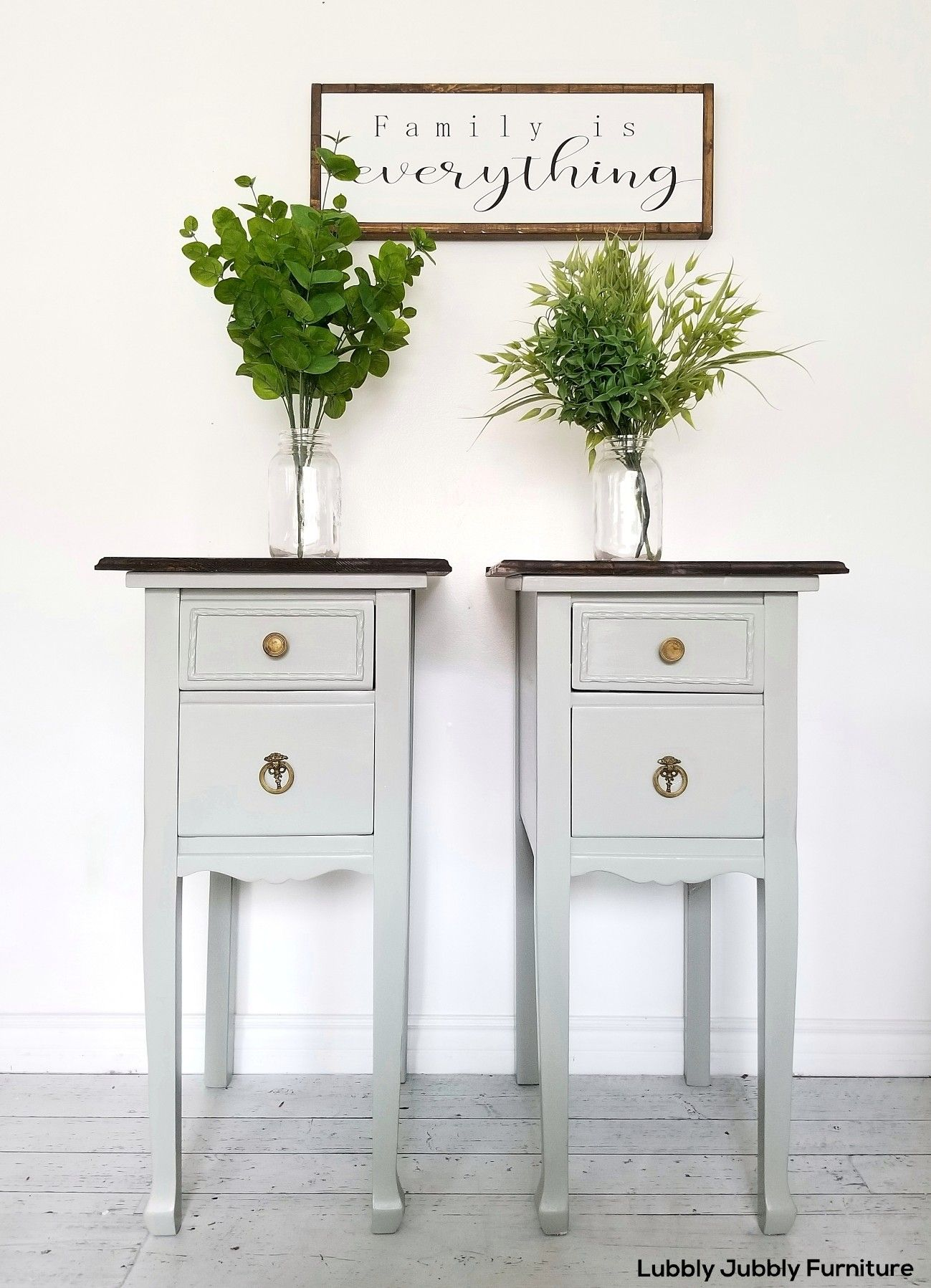 Two Night Stands From A Vanity Painted Night Stands Bedside Table Diy Painted Furniture