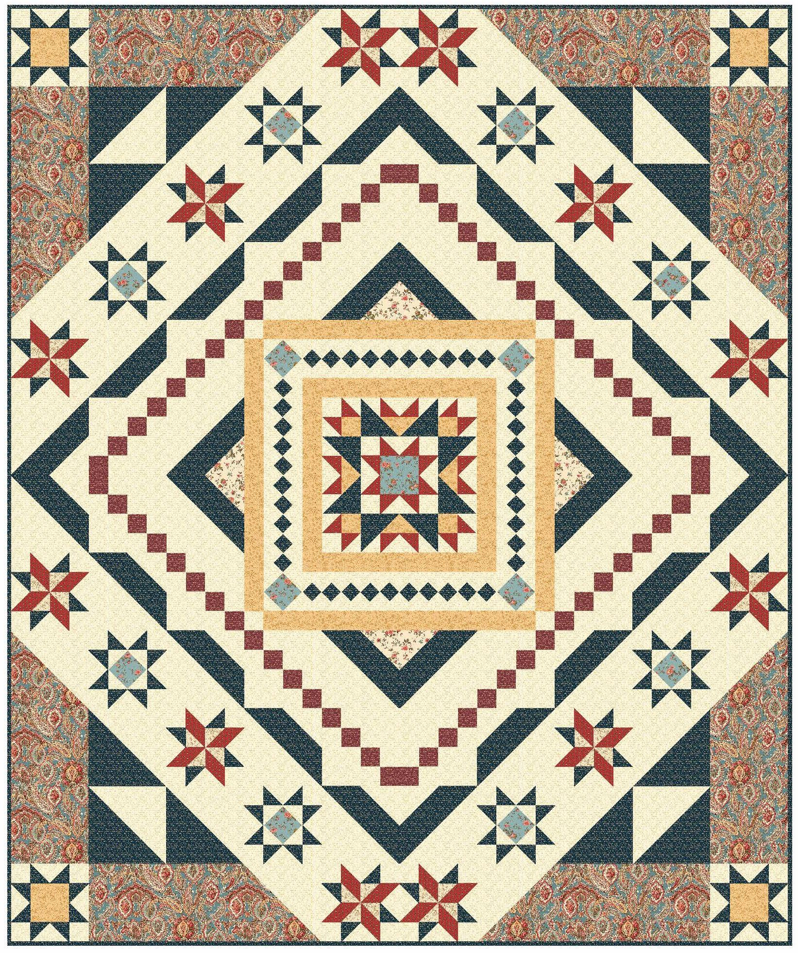 Essex Block of the Month quilt program: This queen-size design ... : quilt program - Adamdwight.com