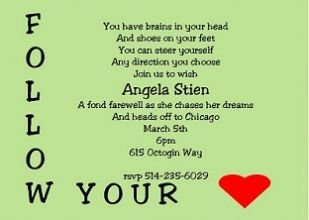 Going Away Party Invitation Wording As Additional Ideas In Making Card 724