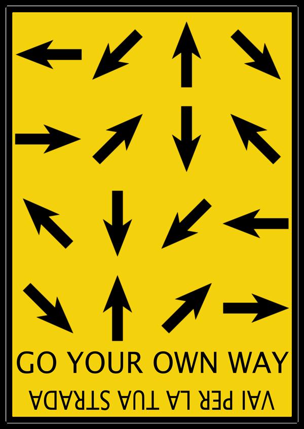 Go your own way #illustration http://it.fotolia.com/p/204281000/partner/204281000