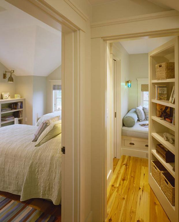 Need time to reflect?  This little room is the perfect place for it