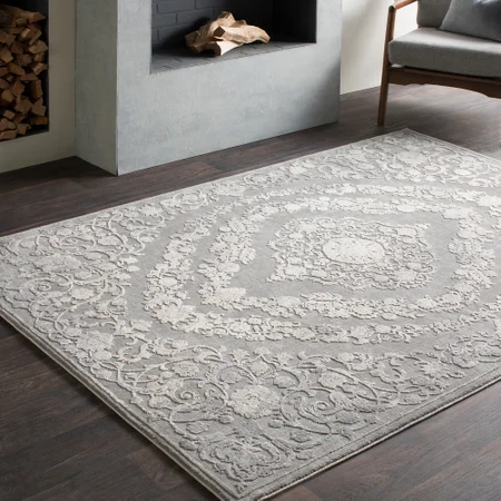 Tuer A Rectangle Updated Traditional 55 Polyester 45 Polypropylene Area Rug Area Rugs Grey Area Rug Colorful Rugs